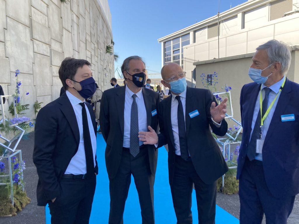Benoît Payan à gauche) et renaud Muselier au milieu) avec Fabrice Coquio pour le lancement des travaux de MRS4 Crédit RM)