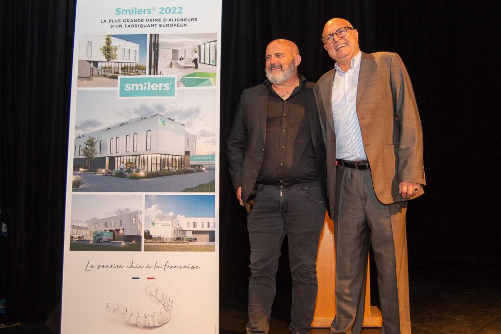 Philippe Veran et Bruno Thévenet lors de la présentation de la nouvelle usine de Salon en juin 2021 (Crédit JYD/Gomet').