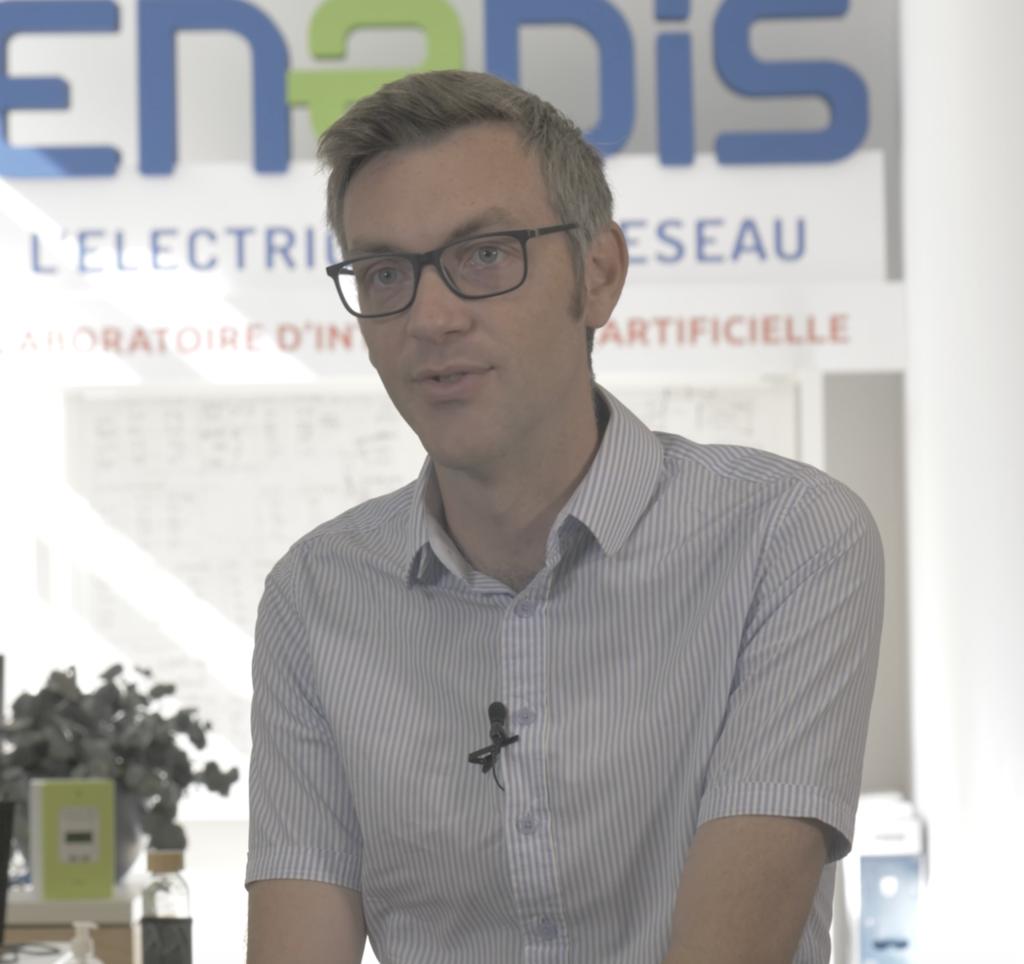 Romain Germignani, le responsable du laboratoire d'intelligence artificielle d'Enedis